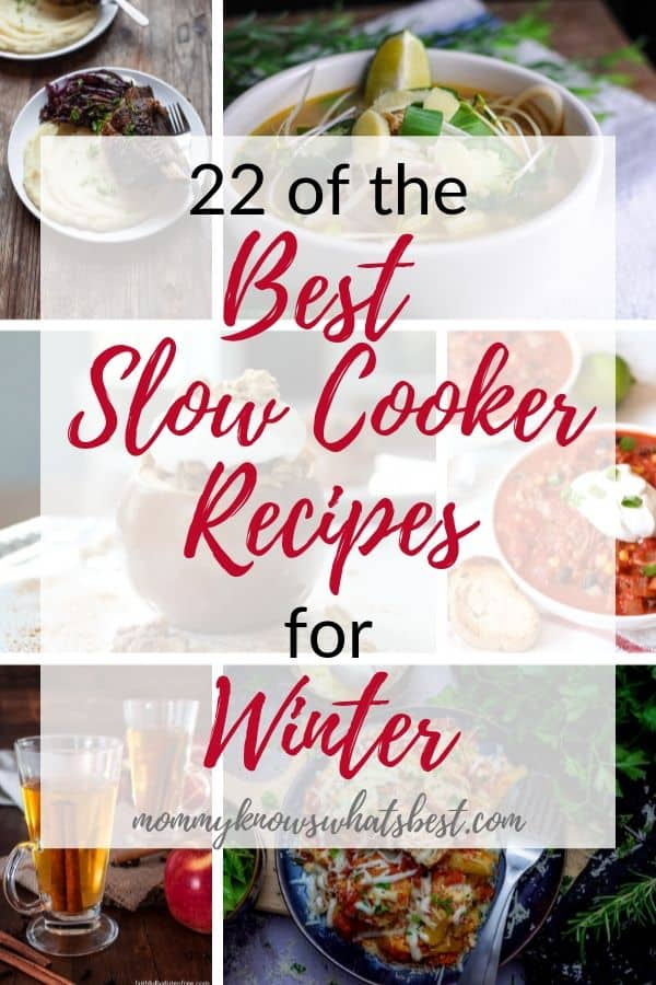 22 of the Best Slow Cooker Recipes for Winter: Get a list of the best slow cooker recipes to make in your crock pot.   slow cooker recipes   crock pot recipes