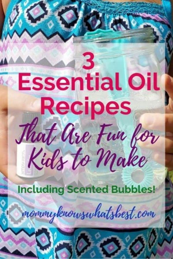3 Essential Oils Recipes That Are Fun for Kids to Make | Scented Bubbles Recipe | Natural Slime Recipe | DIY Stress Ball Recipe