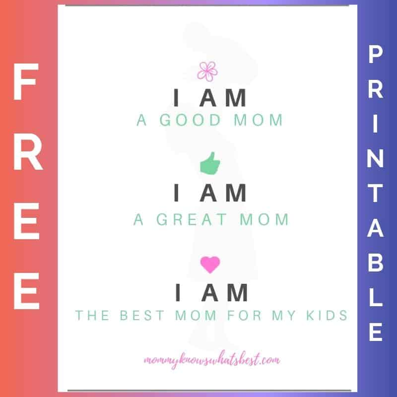 Am I a Good Mom Printable Affirmation Quote