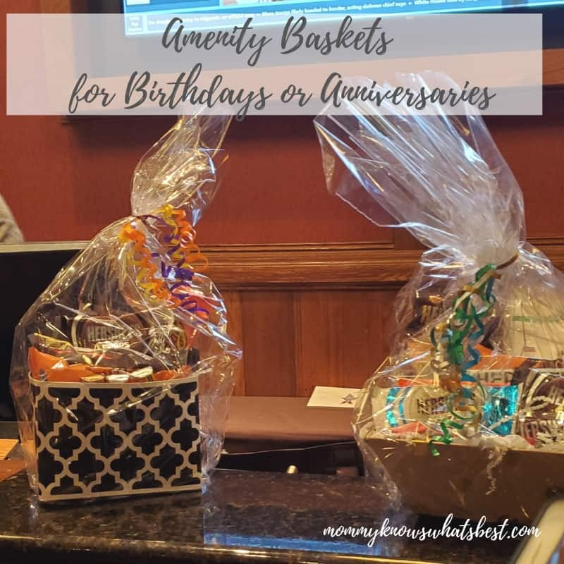 Baskets for Birthdays or Amenities