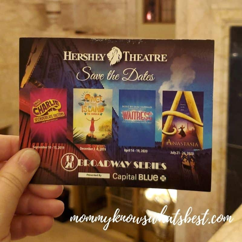 Broadway Shows at the Hershey Theatre