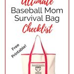 Free Printable Baseball Mom Survival Bag Checklist