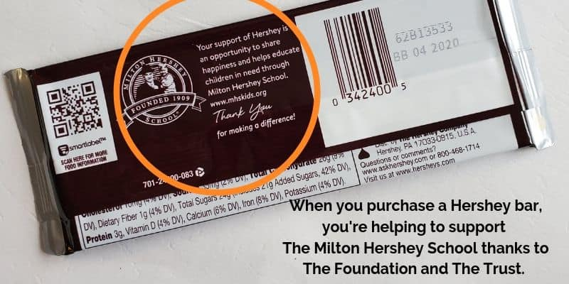 Hershey Bars Support Milton Hershey School