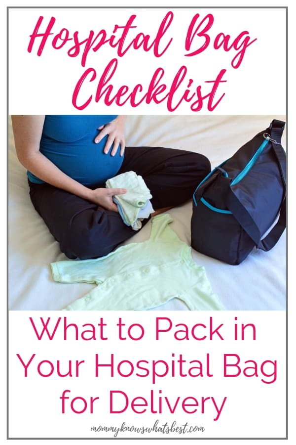 Hospital Bag Checklist Printable: What to Pack in Your Hospital Bag for Delivery