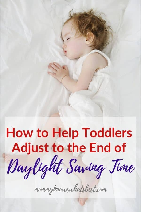 How to Help Babies and Toddlers Adjust to the End of Daylight Saving Time