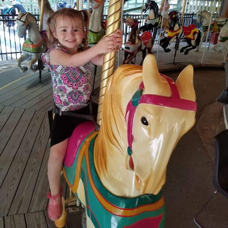 Little Kids at an Amusement Park