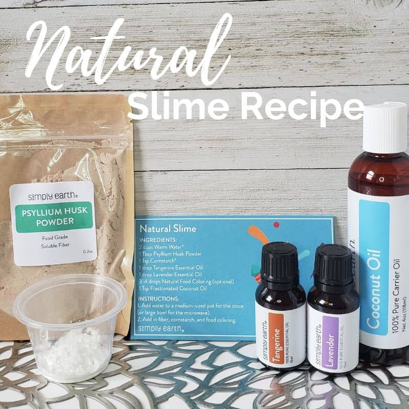 Natural Slime Recipe with Essential Oils