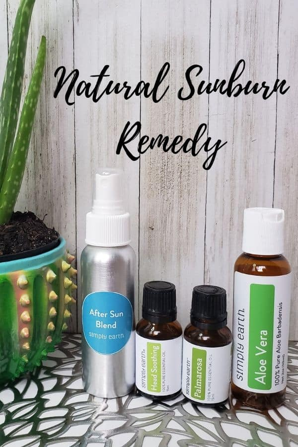 Natural Sunburn Remedy with Aloe Vera