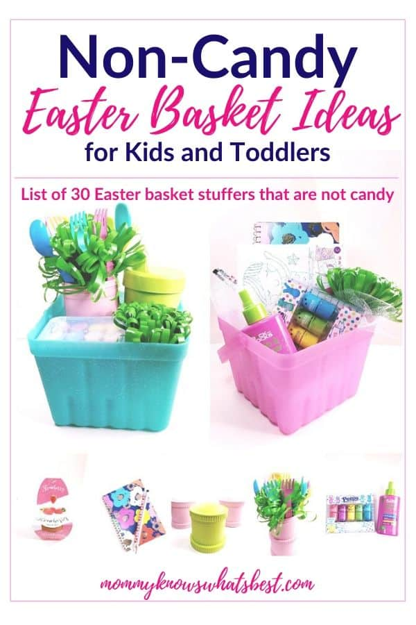 Non Candy Easter Basket Ideas for Kids| No Candy Easter basket ideas