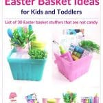 Non Candy Easter Basket Ideas for Kids No Candy Easter basket ideas