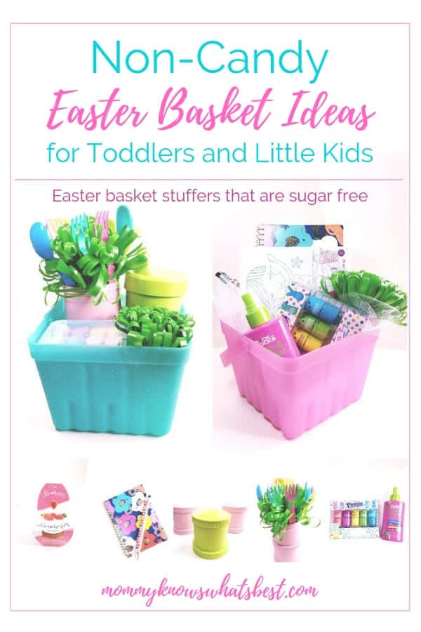 Non Candy Easter Basket Ideas for Kids: Easter basket stuffers for toddlers and little kids that are fun and sugar free.