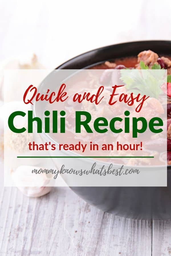 Quick and Easy Chili Recipe, Chili With Beans Recipe. Learn how to make this simple chili recipe that can be made in the crock pot as well.