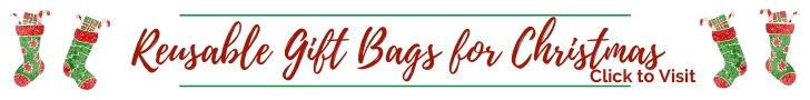 Reusable Gift Bags for Christmas Holidays