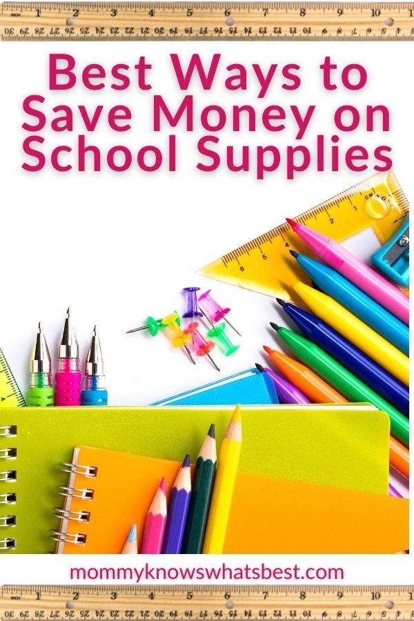 Save money on school supplies tips