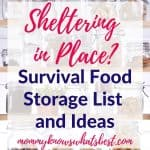 Sheltering in Place Survival Food Storage List and Ideas: What to Keep in Your Pantry for Emergencies