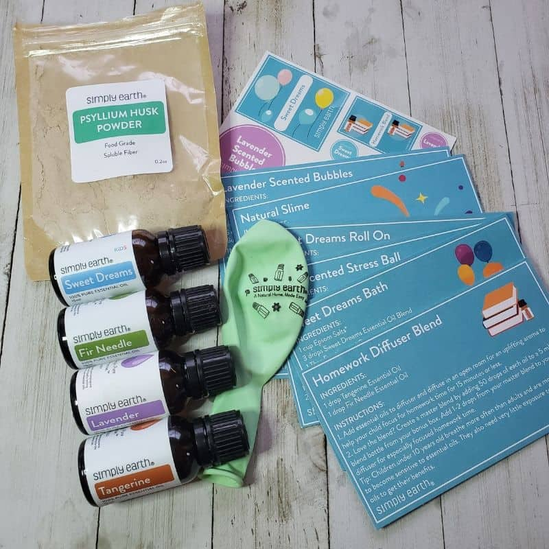 Simply Earth Essential Oil Recipes Box