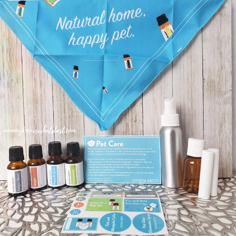 Simply Earth Essential Oils Subscription Recipe Box