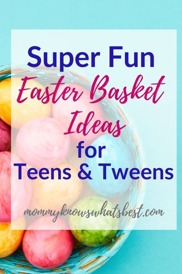 Super Fun Easter Basket Ideas for Teenagers and Tweens: Get a list of Easter basket fillers for teens and tweens.