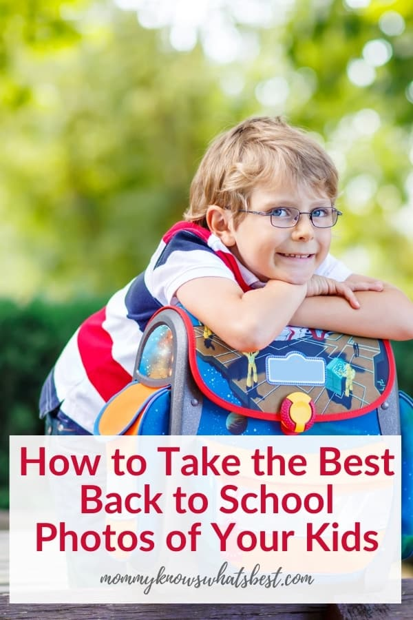 Take Best First Day of School Photos