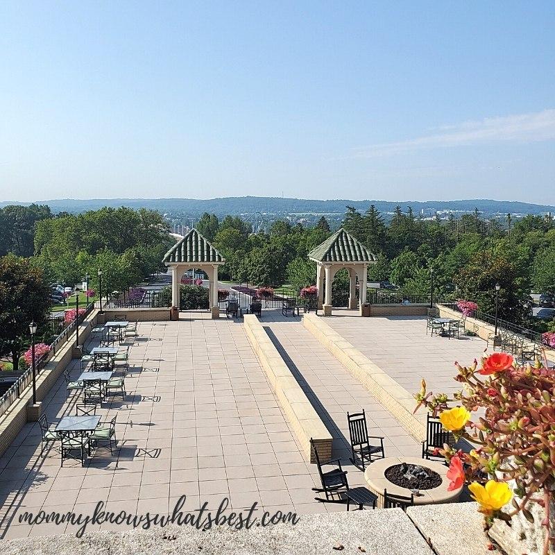 The Hotel Hershey views balcony
