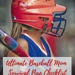 Ultimate Baseball Mom Survival Bag Checklist: Perfect for baseball moms who want to survive baseball season. Free printable!