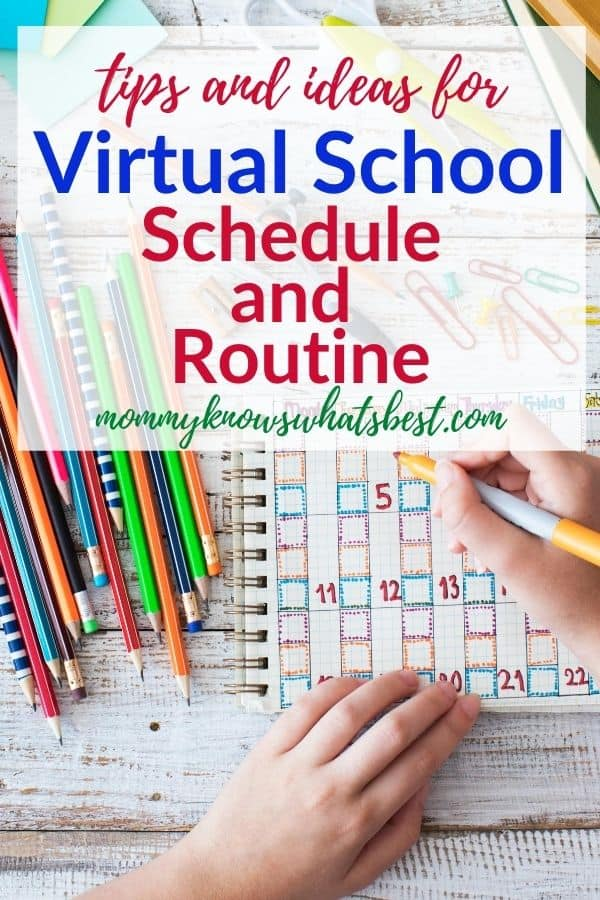 Virtual School Schedule and Routine
