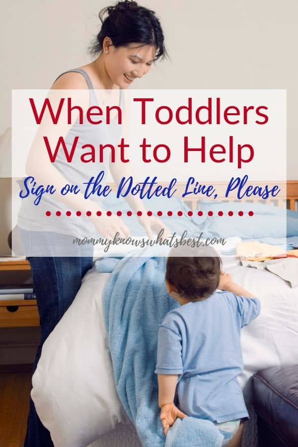 When Toddlers Want to Help: Will they want to help when they're teenagers? One mom's memory and hopes.