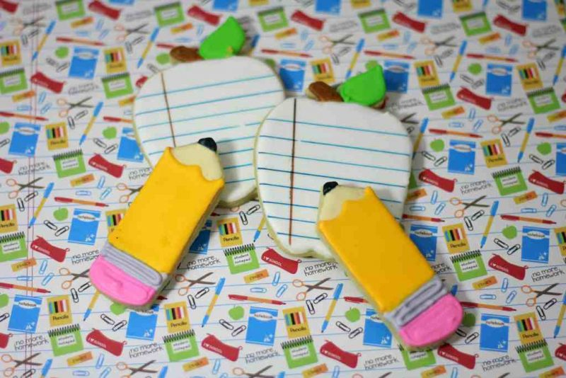 composition notebook cookies