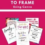how to make free printable quotes to frame