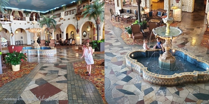 the fountain lobby at the hotel hershey