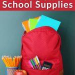 ways to Save money on school supplies
